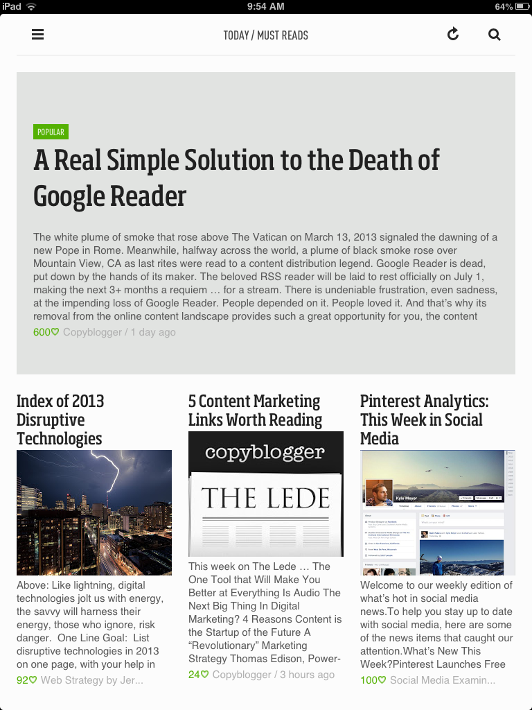 Feedly Tablet