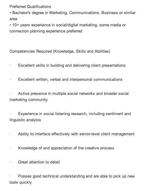 Three common faults of the social media job description – Social Media Job Description