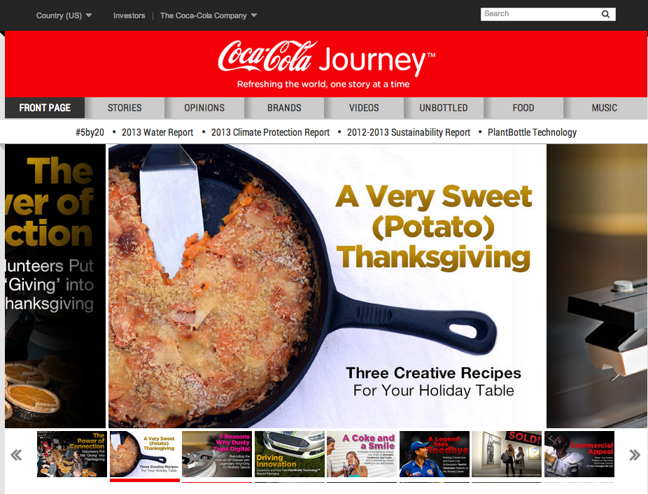 Coke says the corporate web site is dead. I s…