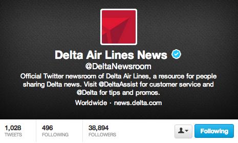 Delta News Twitter