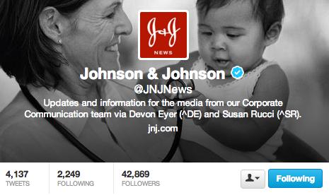 J&J Twitter News