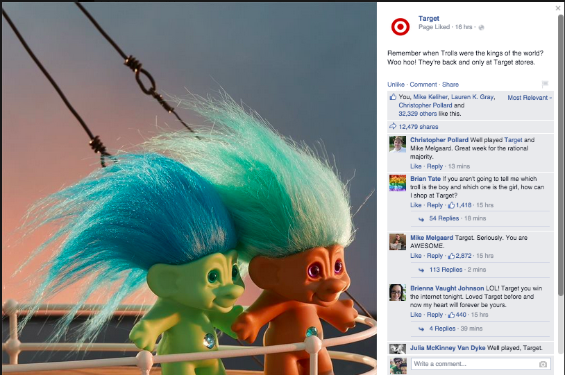 Target FB Trolls