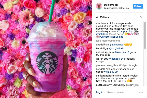 Image result for instagram unicorn frappuccino