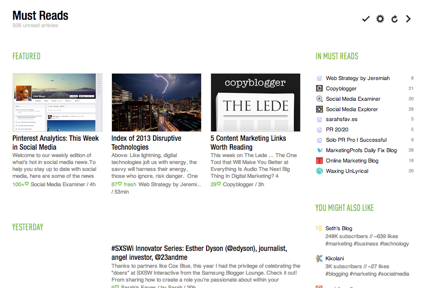 Feedly Timeline