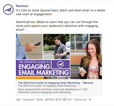 Marketo FB ad