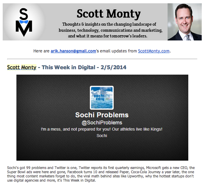 Scott Monty This week in Digital