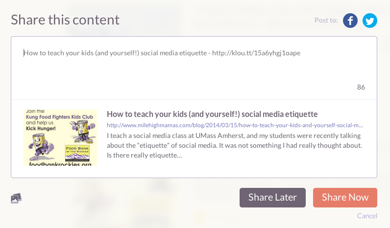 Klout Post 4
