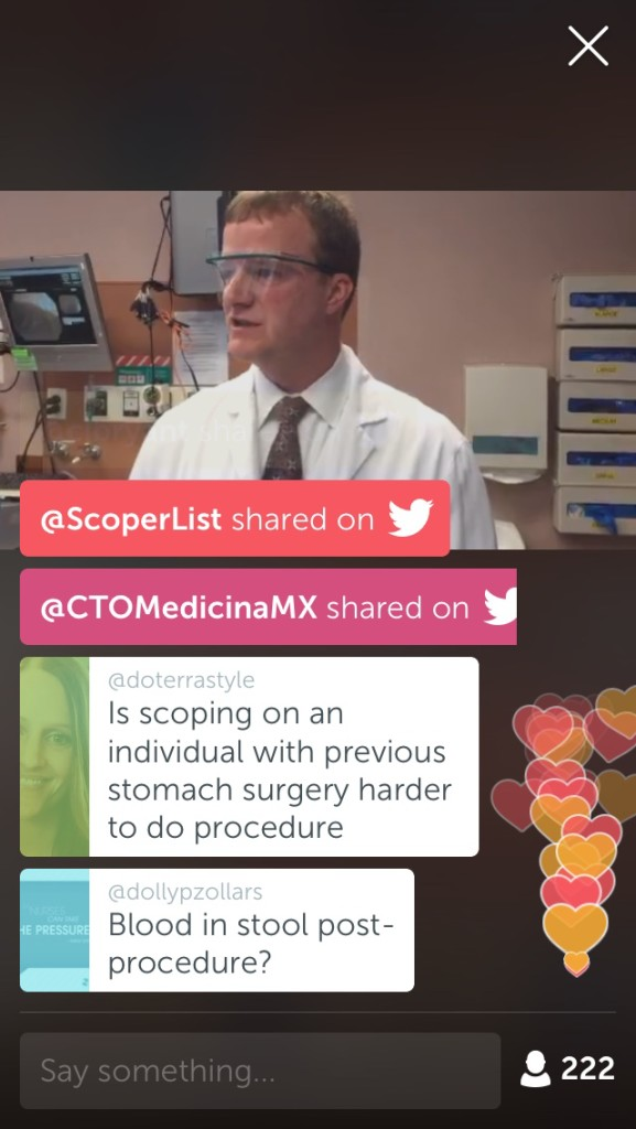 Mayo Clinic's first-ever live colonoscopy on Periscope: A